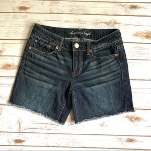 American Eagle 0 Jean Cutoff Shorts No Stretch